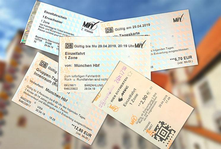 MVVの乗車チケット各種