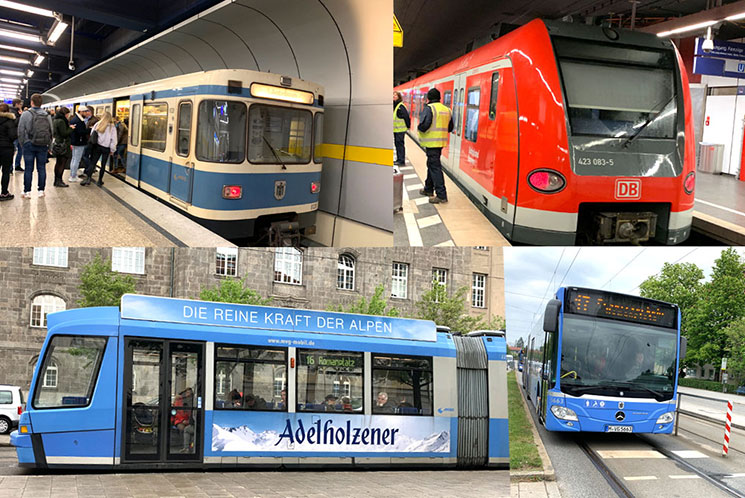 MVV ミュンヘン市内の交通手段