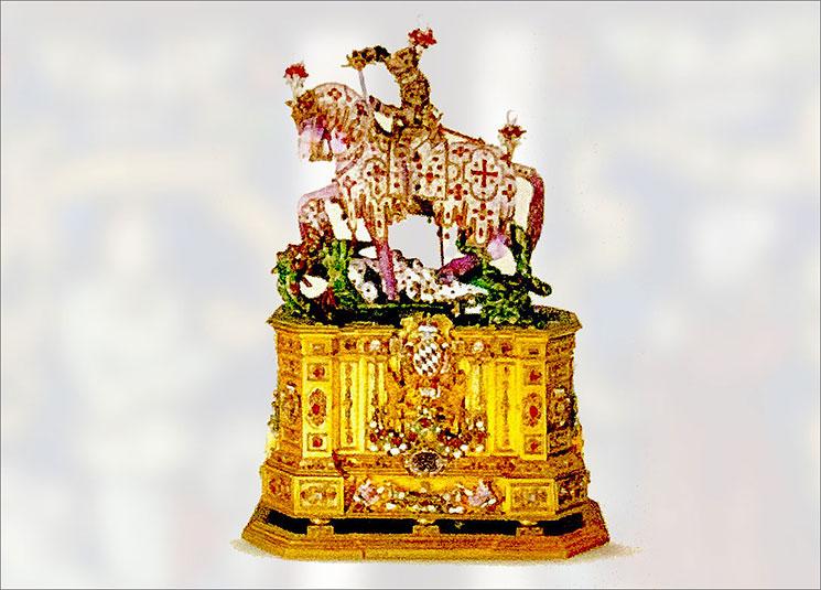 聖ゲオルクの騎馬像