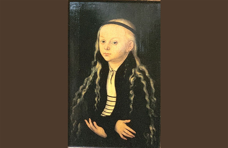少女の肖像(マグダレナ・ルターの肖像)