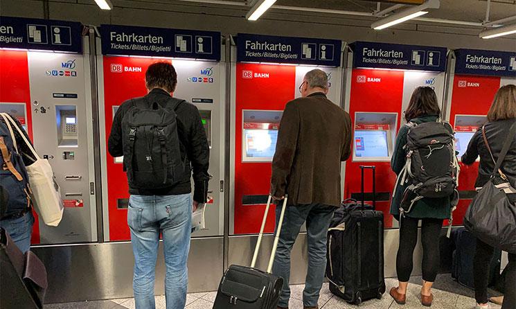 ミュンヘン交通機関の自動券売機