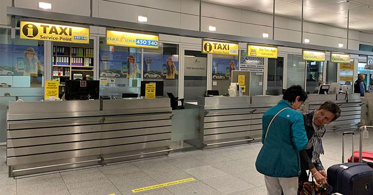 ミュンヘン空港のタクシーカウンター