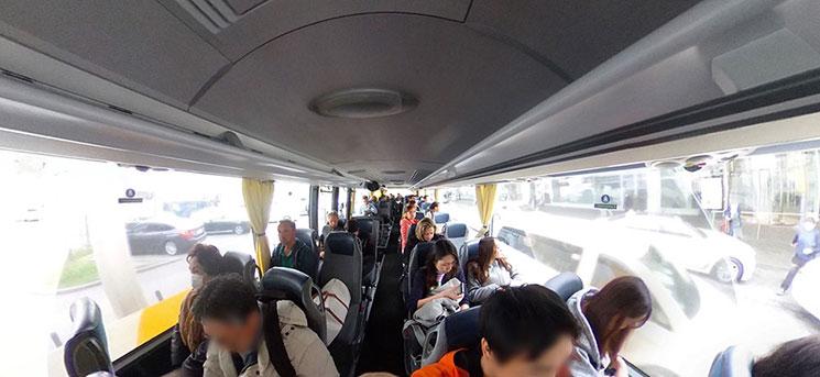 ルフトハンザエクスプレスバスの車内