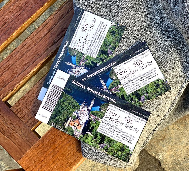 ノイシュヴァンシュタイン城の入場チケット