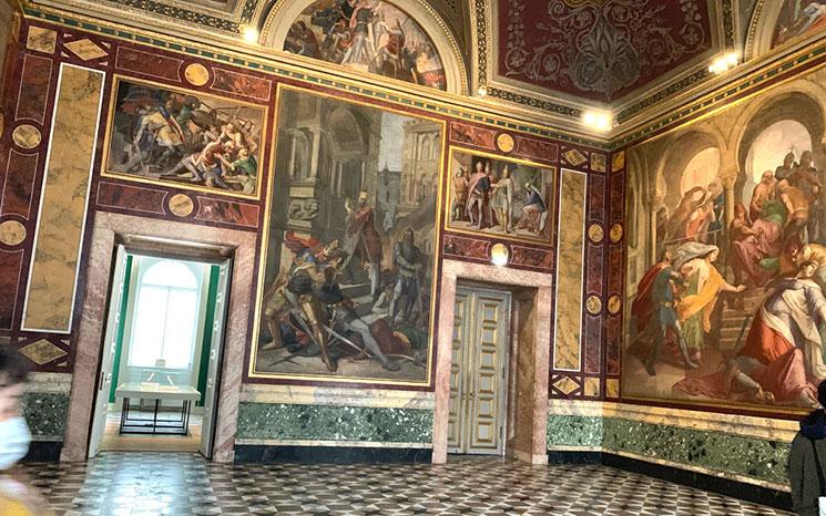 レジデンツ博物館内の展示スペース