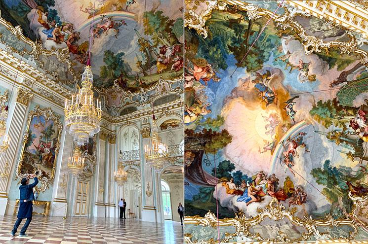 シュタイネルネ・ザール(祝祭大ホール)と天井画