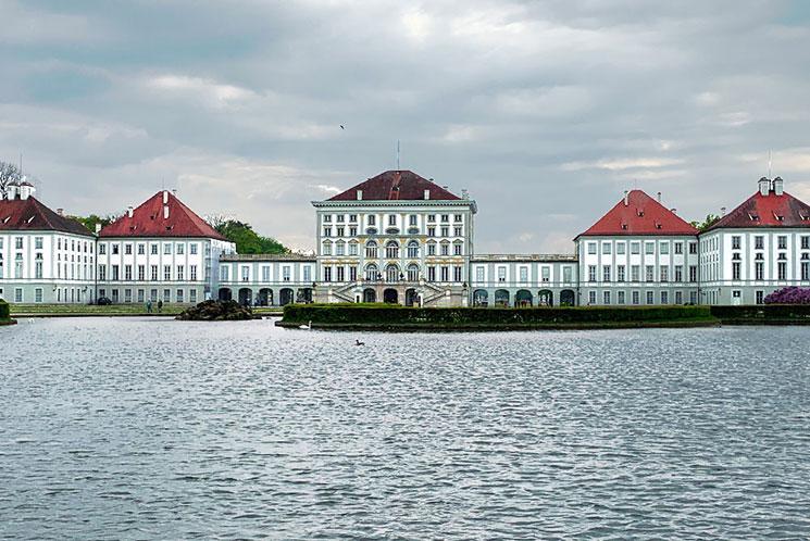 ニンフェンブルク城の景観