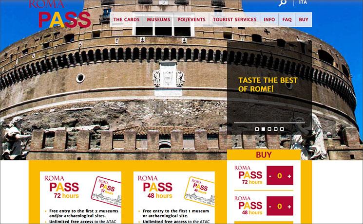 ローマパスの公式サイト