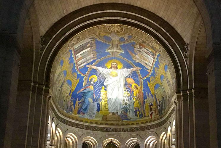 サクレ・クール寺院 キリストのモザイク画
