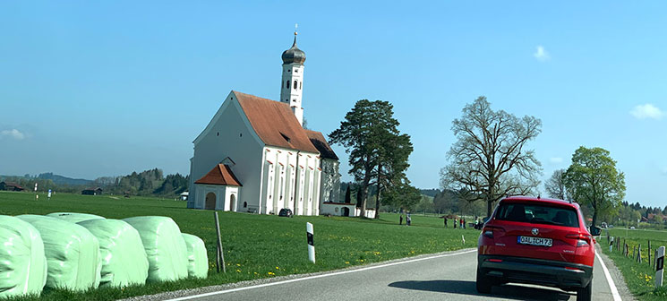 フュッセン駅からヴィース教会までの道中