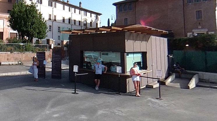 フォロ・ロマーノのチケットオフィス