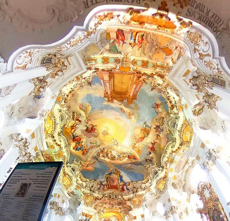 天井のフレスコ画