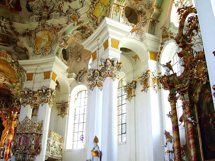 ヴィース教会内部の装飾