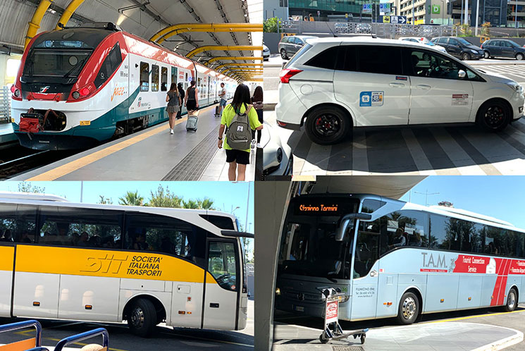 フィウミチーノ空港と市内の交通手段