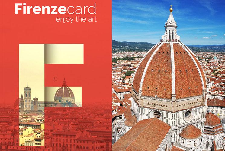 フィレンツェカードとドゥオーモの景観