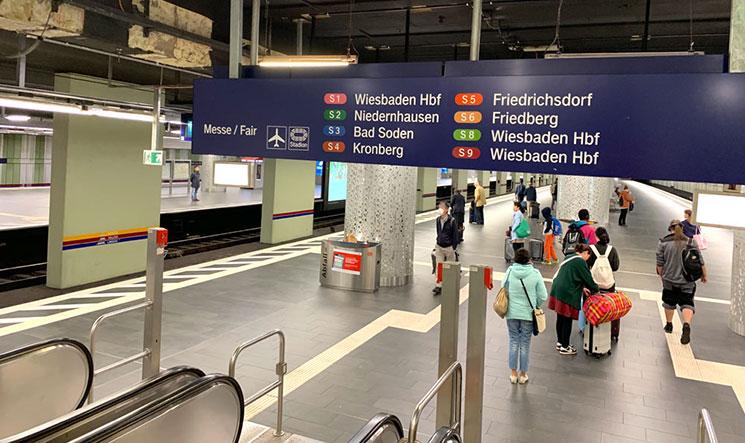 フランクフルト中央駅のSバーン乗り場