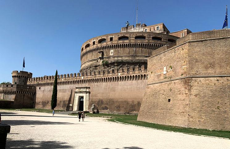 サンタンジェロ城の外壁
