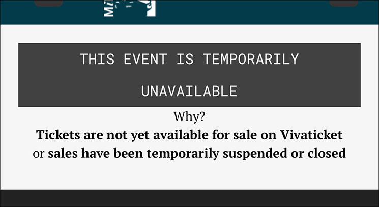 THIS EVENT IS TEMPORALY UNAVAILABLE