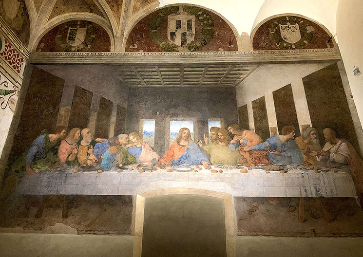 オリジナルの「最後の晩餐」の壁画