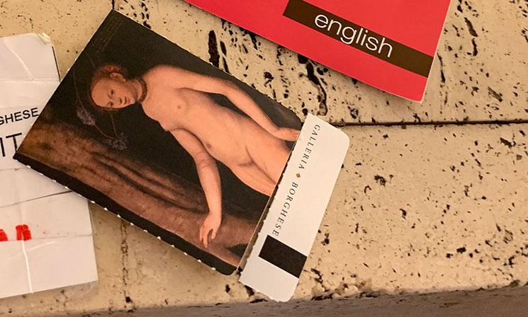 ボルゲーゼ美術館の入場チケット