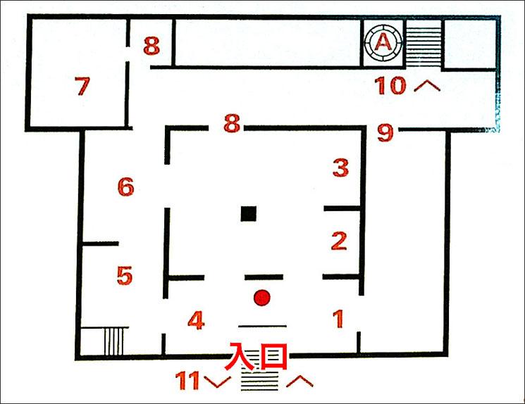ボルゲーゼ美術館内 地下フロアマップ