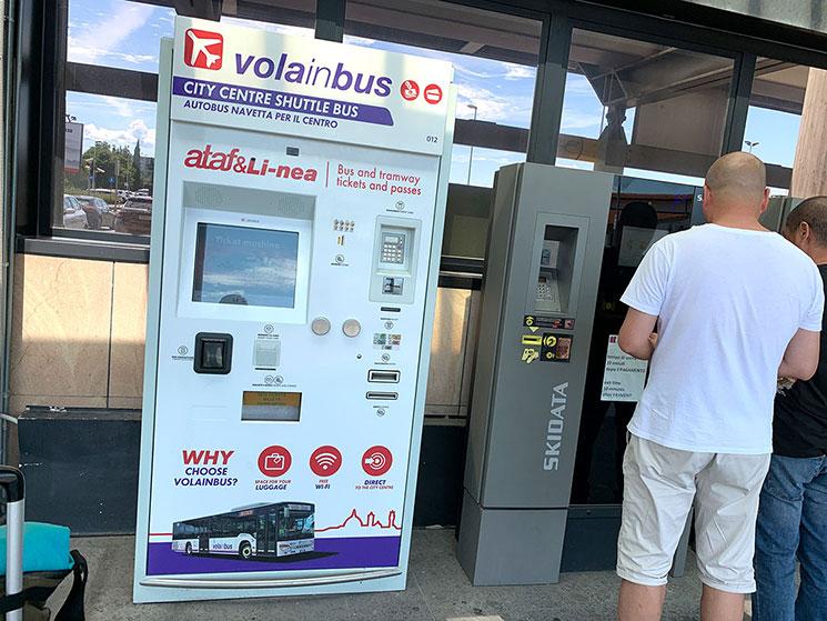 フィレンツェ・ペレトラ空港 バスの自動券売機