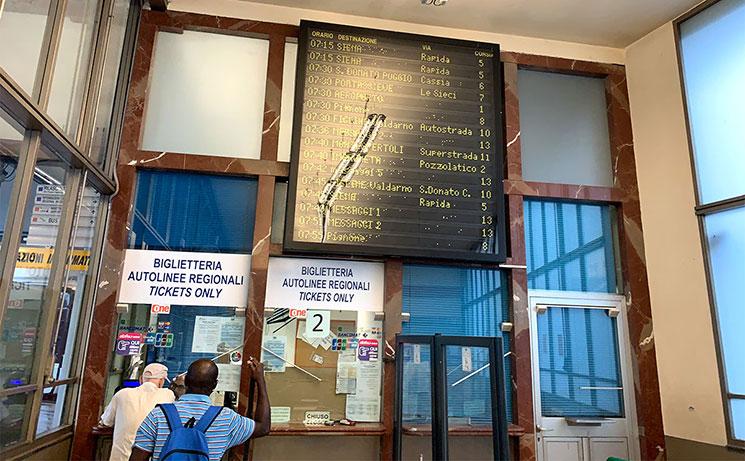 Sita社バスターミナル内のチケットオフィス