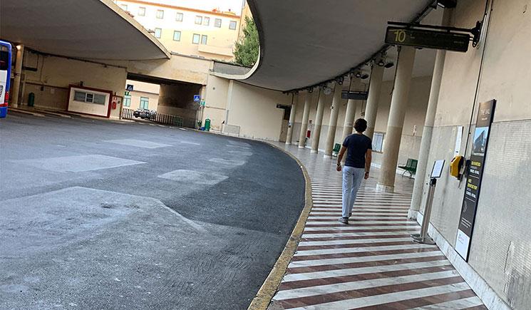 フィレンツェ市内 Sita社のバスターミナル(Busitalia SITA Nord Autostazione)