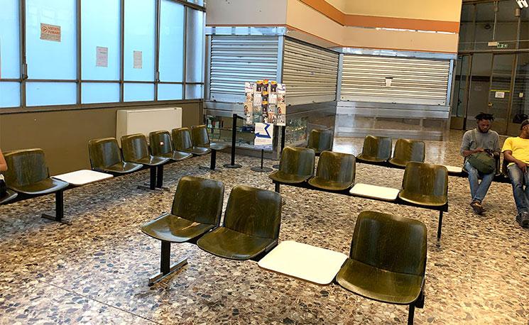 Sita社のバスターミナル チケットオフィス兼、待合所