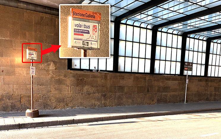 駅前のバスターミナル 空港行きバスの乗り場