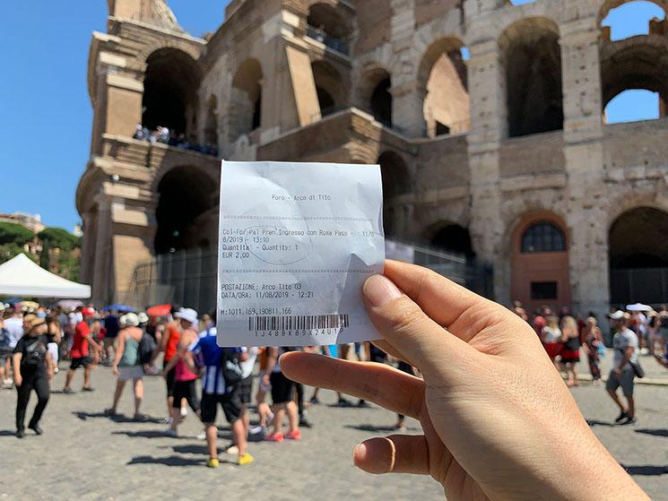 コロッセオの入場チケット