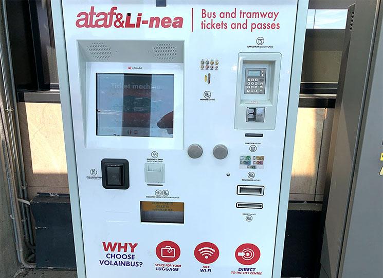 フィレンツェ トラム 乗車チケットの券売機