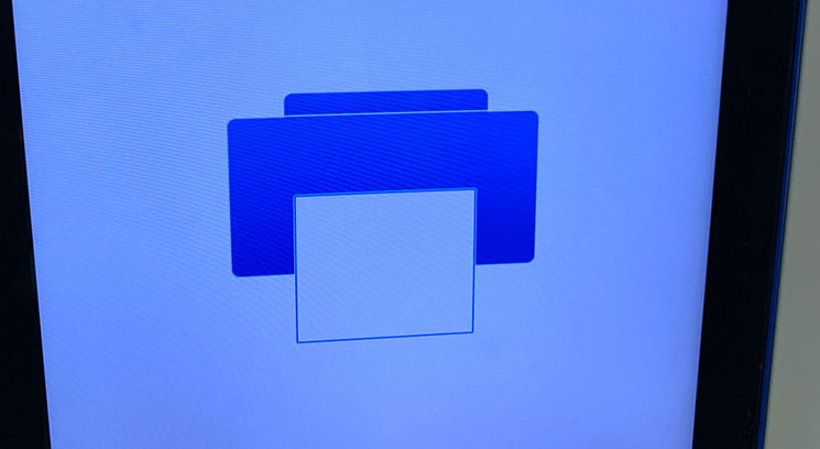 整理券発券機の操作画面