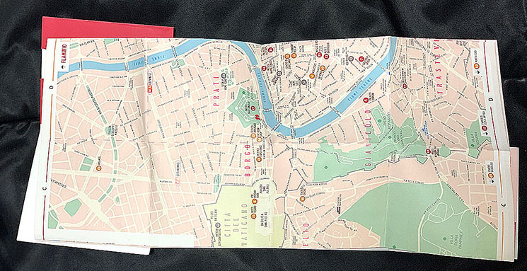 ローマパスに付属する市内地図