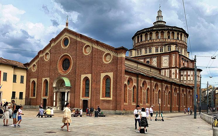 サンタ・マリア・デッレ・グラツィエ教会の外観