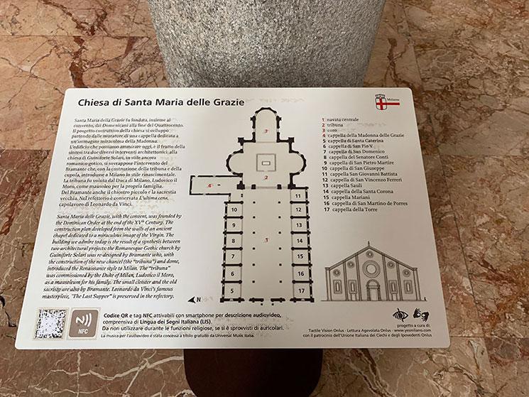 サンタ・マリア・デッレ・グラツィエ教会の見取り図