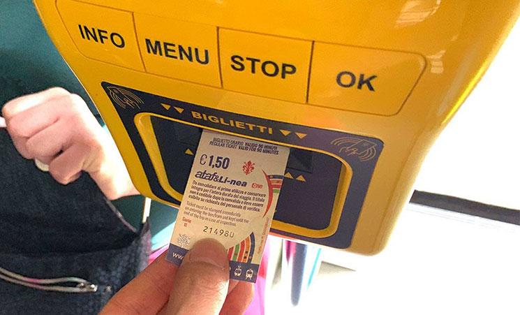 トラム チケット刻印のやり方