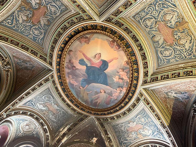 サンタ・マリア・イン・コスメディン教会内 天井のフレスコ画