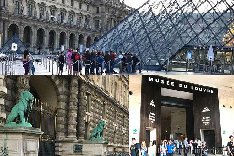 ルーブル美術館の各入口