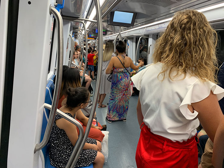 地下鉄内の景観