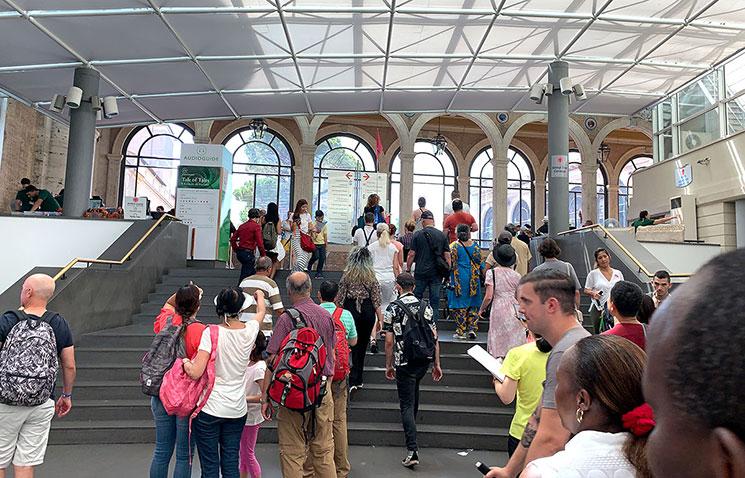 バチカン美術館 見学エリアの開始地点