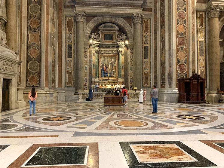 サン・ピエトロ大聖堂内の礼拝堂