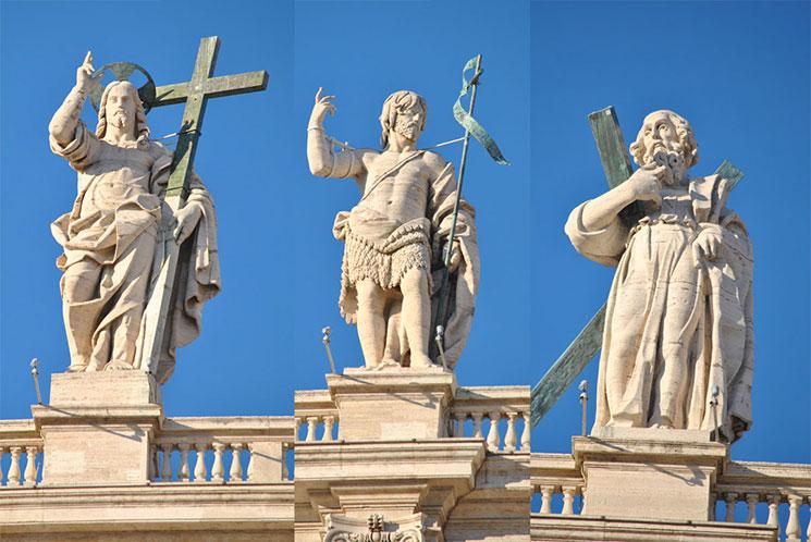 サン・ピエトロ大聖堂 11使従の彫像