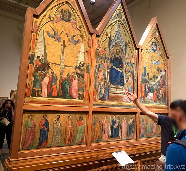 ジョット作 ステファネスキの祭壇画