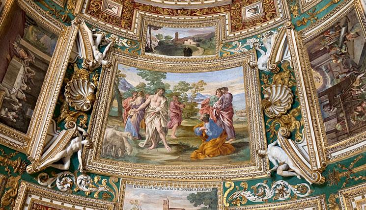地図のギャラリー 天井の絵画