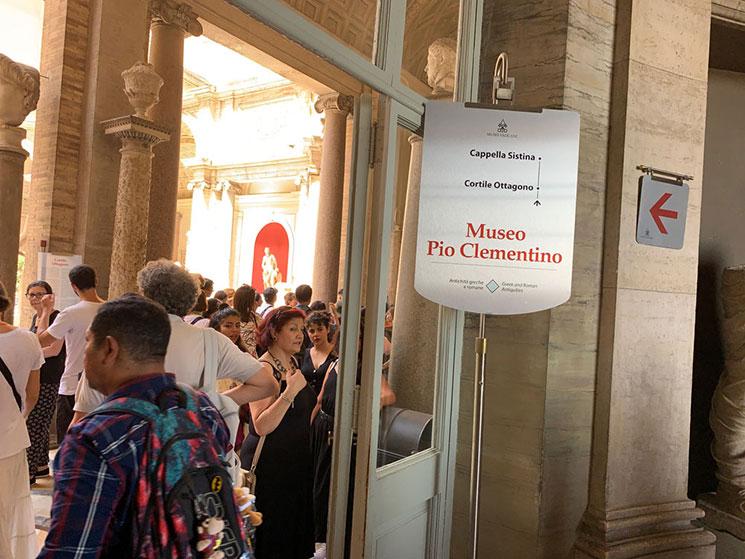 「Museio Pio Clementino(ピオ・クレメンティーの美術館)」の入口