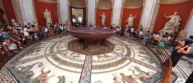 円形の間 床のモザイク画