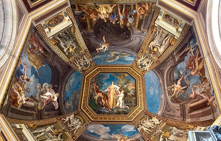 トンマーゾ・コンカ作 天井のフレスコ画