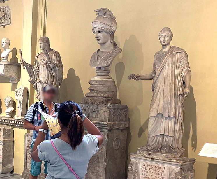 キアラモンティ美術館 アテナの頭部像