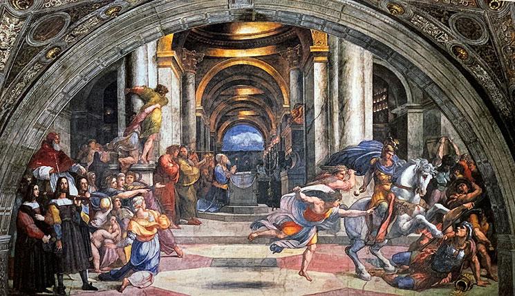 宮殿から追放されるヘリオドロス
